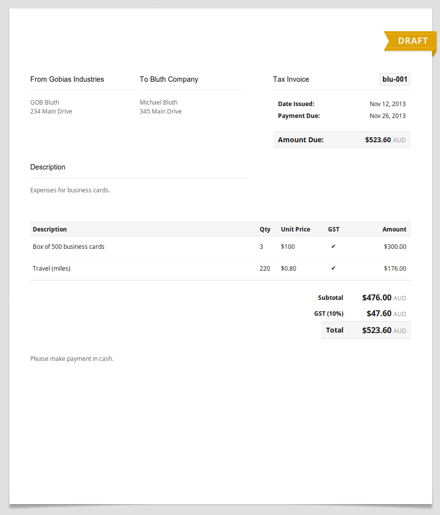 Invoice Expenses Boatjeremyeatonco - Expenses invoice template