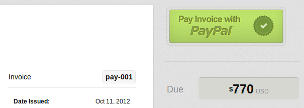 Pay invoice online with PayPal