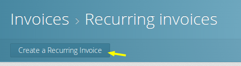 Create a new recurring invoice