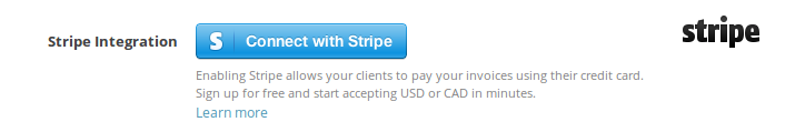 Add your Stripe account to start accepting payments for your invoices