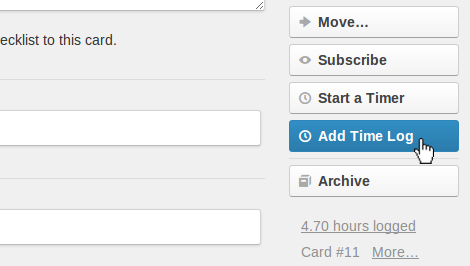 Time tracking on every Trello card