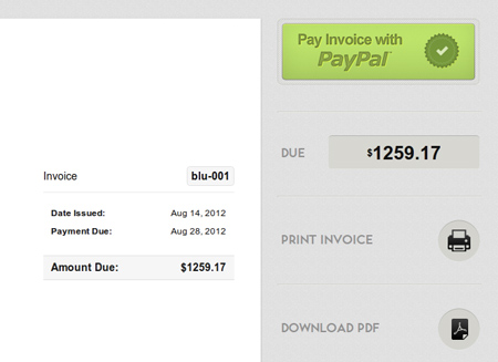 invoices paid by paypal or credit card paydirt billing software