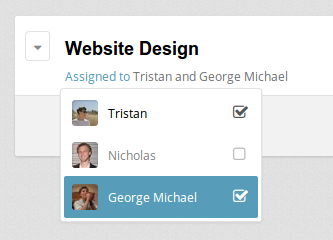 Assign tasks to your team members for time tracking.