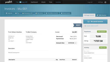 Time Tracking And Invoicing Software For Freelancers And Small - Invoice payment software